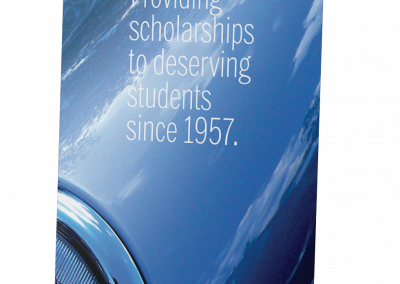 Blue Scholarship Pull-Up banner