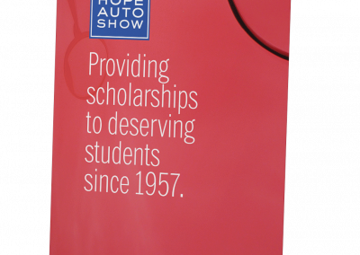 Red Scholarship Pull-Up banner
