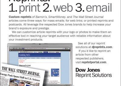 Dow Jones Reprint Solutions newspaper ad
