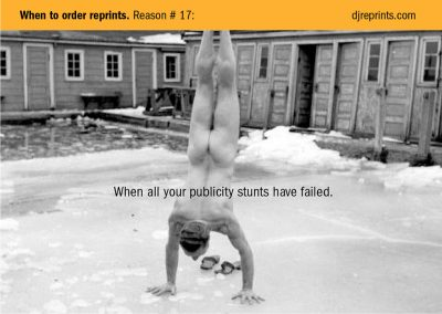 Publicity stunt postcard