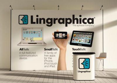 Lingraphica trade show booth
