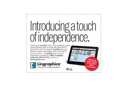 Lingraphica magazine ad